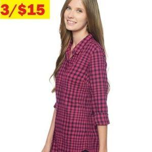 Splendid Gramercy Plaid Gingham Flannel Top Shirt
